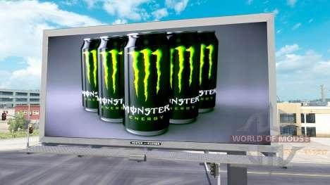 Monster Energy de publicidad en vallas publicita para American Truck Simulator