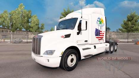 Escocia Americana de la piel para el camión Pete para American Truck Simulator