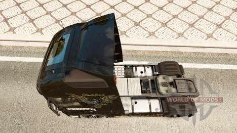 La piel de Alter Bridge en Volvo trucks para Euro Truck Simulator 2