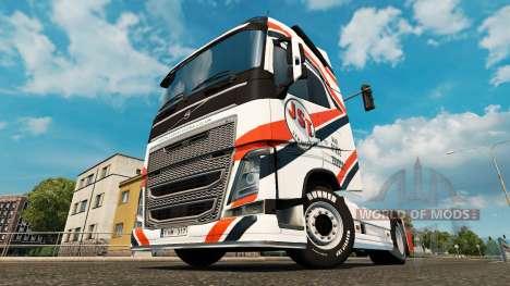 JST Servicios piel para camiones Volvo para Euro Truck Simulator 2