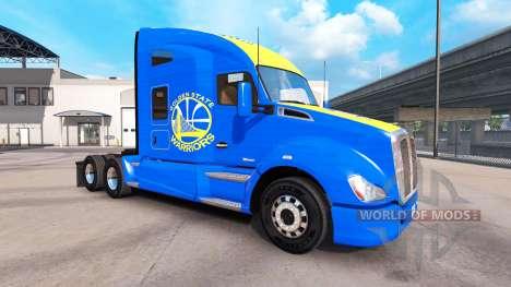 La piel Golden State Warriors en el tractor Kenw para American Truck Simulator
