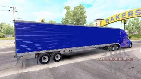 Azul refrigerados semi-remolque para American Truck Simulator