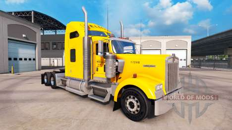La Piel De Color Amarillo Inc. para Peterbilt y  para American Truck Simulator