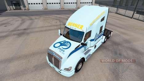 La piel Werner en el tractor Kenworth para American Truck Simulator