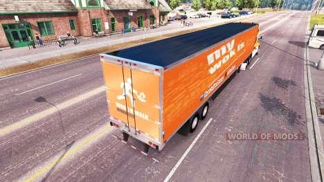 La piel Wok A Caminar en un Kenworth tractor para American Truck Simulator