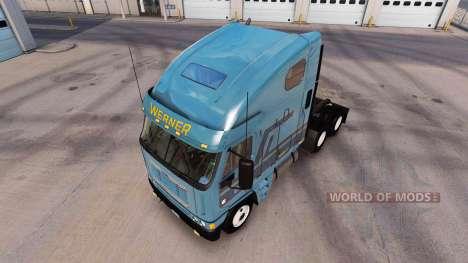 La piel Werner en el camión Freightliner Argosy para American Truck Simulator