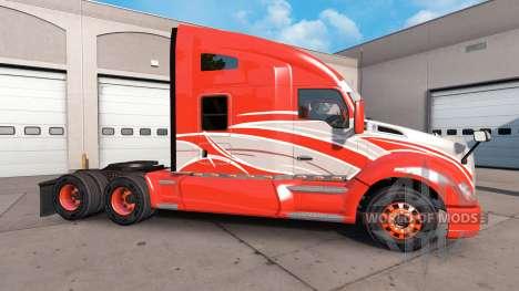 La piel de la Raya Roja en el camión Kenworth para American Truck Simulator