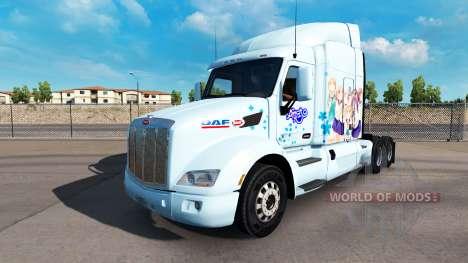 Yuyushiki de la piel para el camión Peterbilt para American Truck Simulator