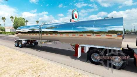 Semi-remolque cisterna para American Truck Simulator