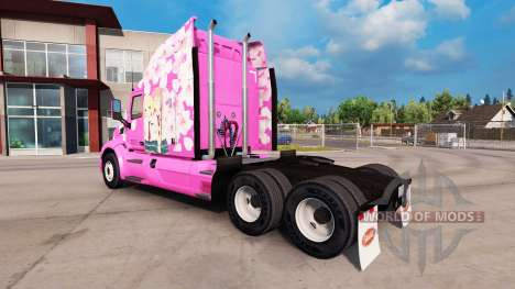 Sakura piel para el camión Peterbilt para American Truck Simulator