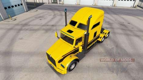 La piel Rayas v5.0 tractor Kenworth T800 para American Truck Simulator