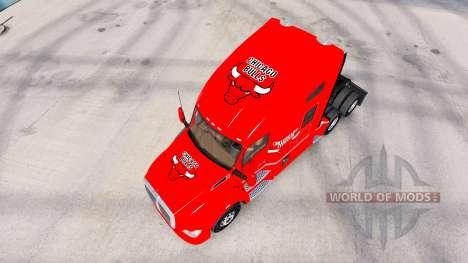 La piel de los Bulls de Chicago en el tractor Ke para American Truck Simulator