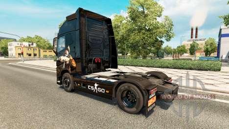 La piel de CS:GO para camiones Volvo para Euro Truck Simulator 2