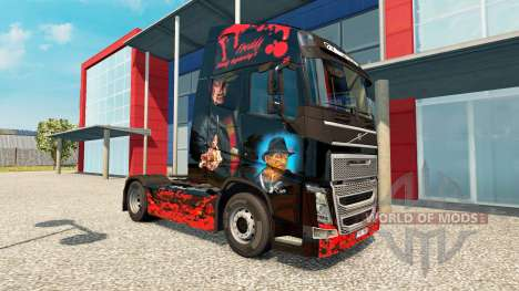 Freddy Krueger de la piel para camiones Volvo para Euro Truck Simulator 2