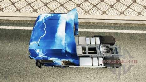El Azul del Mar de Piratas de la piel para DAF c para Euro Truck Simulator 2