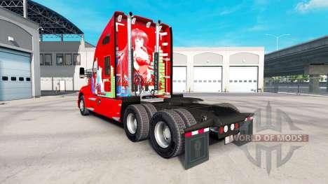 La piel de Rias Gremory en un Kenworth tractor para American Truck Simulator