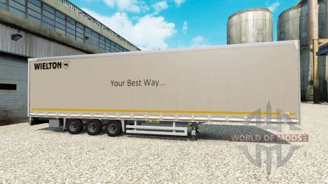 Cortina semi-remolque Wielton para Euro Truck Simulator 2