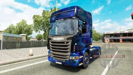 Espacio fresco de la piel para el camión Scania para Euro Truck Simulator 2