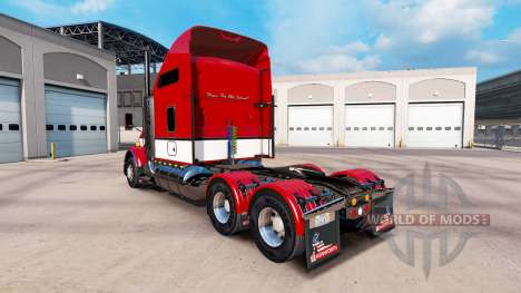 La piel Rayas v4.0 tractor Kenworth T800 para American Truck Simulator