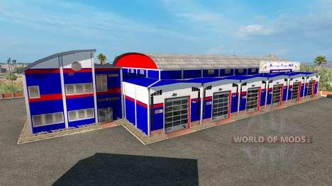 Гаражи casa de máquinas de Transporte de estados para American Truck Simulator