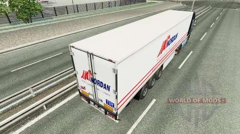 La piel Nordan en el remolque para Euro Truck Simulator 2