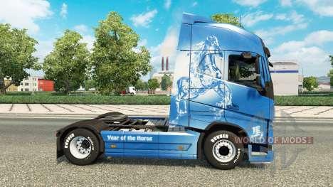 La piel de Año del Caballo de Volvo trucks para Euro Truck Simulator 2