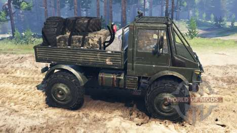 Mercedes-Benz Unimog U1650 para Spin Tires