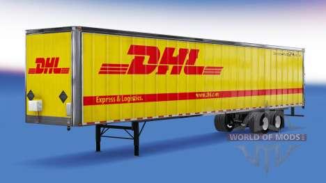 Todo el metal-semirremolque de DHL para American Truck Simulator