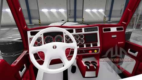 El rojo y blanco, interior Kenworth W900 para American Truck Simulator
