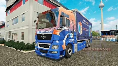 MAN TGS Woodys Express para Euro Truck Simulator 2