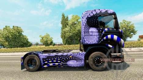 Azul de la Escalera de la piel para Scania camió para Euro Truck Simulator 2