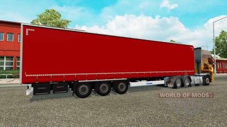 Trailer de la cortina de Krone para Euro Truck Simulator 2