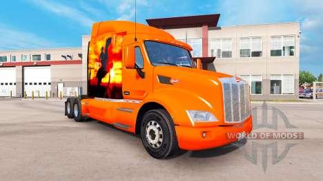 Vaquero de piel para el camión Peterbilt para American Truck Simulator