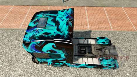 La piel de Humo Verde para Scania camión para Euro Truck Simulator 2