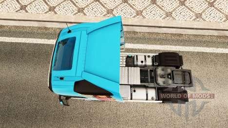 Miranda Kerr piel para camiones Volvo para Euro Truck Simulator 2