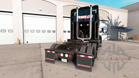La piel Power Girl en el tractor Kenworth para American Truck Simulator