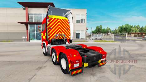 La piel de Fire Truck tractor Scania R730 para American Truck Simulator