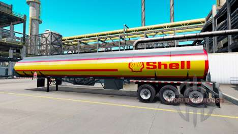 Una colección de skins para semi-remolques tanqu para American Truck Simulator