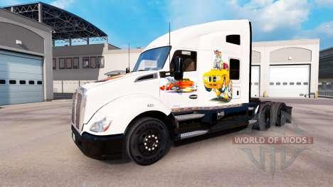 La piel de Coche de arte en un Kenworth tractor para American Truck Simulator