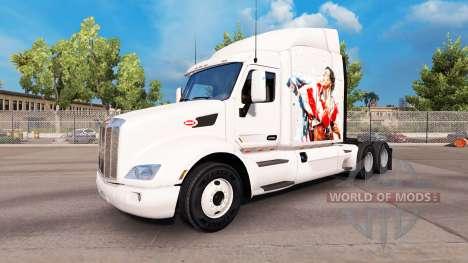 La piel de Rocky Balboa en el tractor Peterbilt para American Truck Simulator