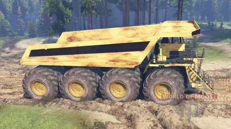 Camión de minería de datos para Spin Tires