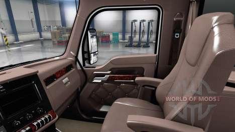 De lujo marrón interior Kenworth T680 para American Truck Simulator