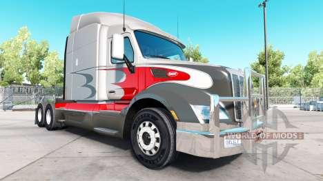 Parachoques de cromo en el Peterbilt 579 para American Truck Simulator