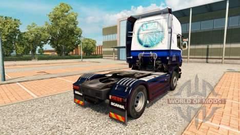 La piel Azul V8 de Scania truck para Euro Truck Simulator 2