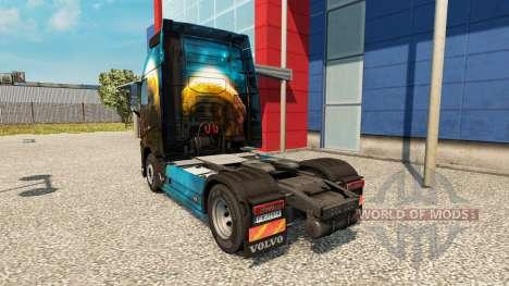 Planeta de la piel para camiones Volvo para Euro Truck Simulator 2