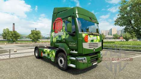 Pieles en la Cerveza checa camión Renault para Euro Truck Simulator 2