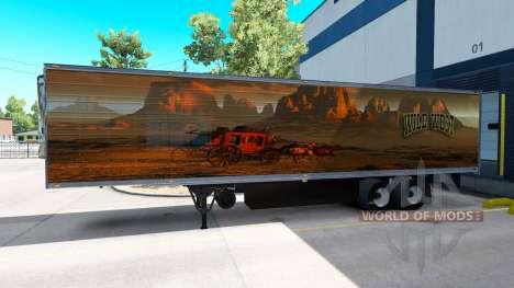 La piel Salvaje Oeste para el remolque para American Truck Simulator