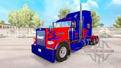 Optimus Prime de la piel para el camión Peterbilt 389 para American Truck Simulator