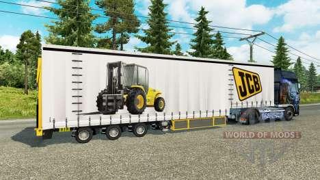 Cortina semirremolque Krone JCB para Euro Truck Simulator 2