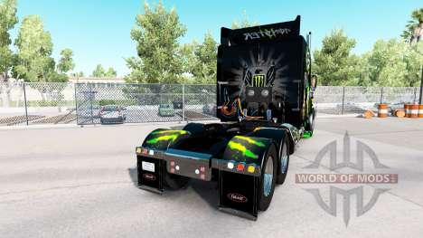 Monster Energy de la piel para el camión Peterbi para American Truck Simulator